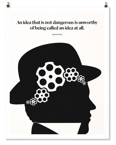 "Oscar Wilde ""Gears"" Print"