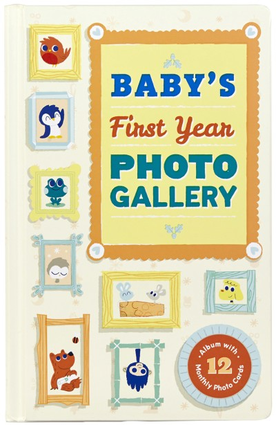 Baby's First Year Photo Gallery Album with 12 Monthly Photo Cards
