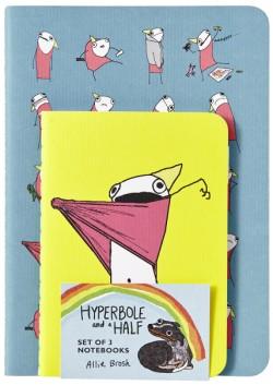 Hyperbole and a Half Notebooks (Set of 3)