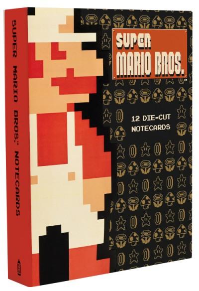 Super Mario Bros. 12 Die-Cut Notecards