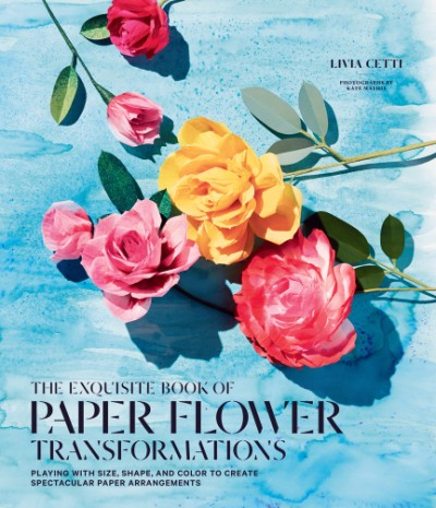 Exquisite Book of Paper Flower Transformations Playing with Size, Shape, and Color to Create Spectacular Paper Arrangements