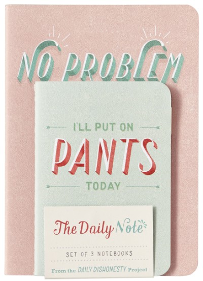 Daily Dishonesty: The Daily Note (Set of 3 Notebooks)