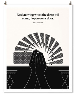 "Emily Dickinson ""Doors"" Print"