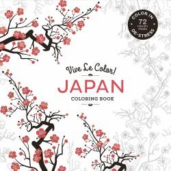 Vive Le Color! Japan (Adult Coloring Book) Color In; De-stress (72 Tear-out Pages)