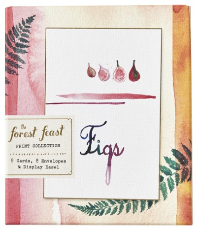 Forest Feast Print Collection 8 Cards, 8 Envelopes, and a Display Easel