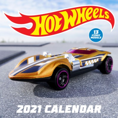 Hot Wheels 2021 Wall Calendar