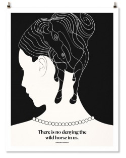 "Virginia Woolf ""Horse"" Print"