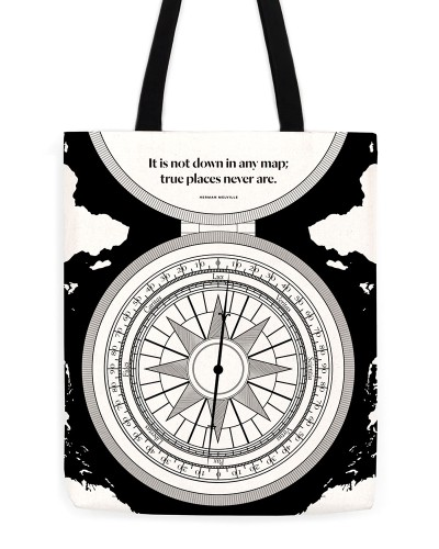 "Herman Melville ""Compass"" Tote"