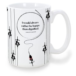 "Charlotte Brontë ""Bicycle"" Mug"
