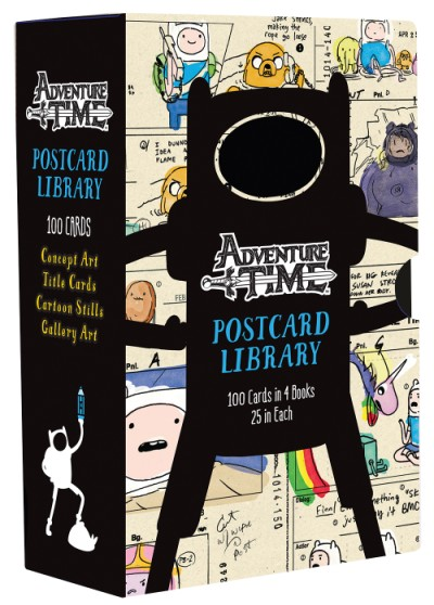 Adventure Time Postcard Library 100 Cards in 4 Books, 25 in Each
