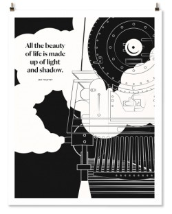 "Leo Tolstoy ""Train"" Print"