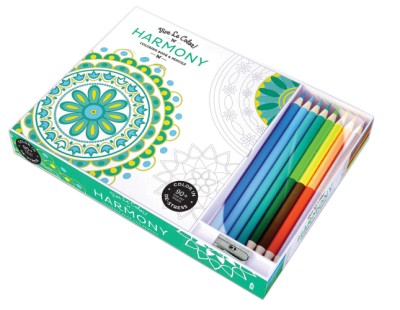 Vive Le Color! Harmony (Adult Coloring Book and Pencils) Color Therapy Kit