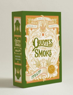 Quotes to Smoke: It's Lit! Stash Box with 6 Packs of 32 Rolling Papers