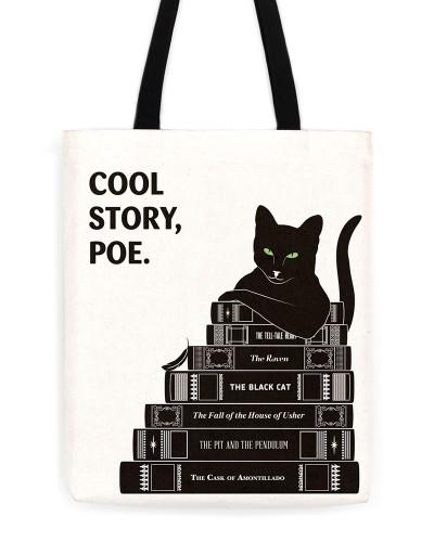 "Edgar Allan Poe ""Cool Story, Poe"" Tote"