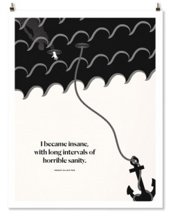 "Edgar Allan Poe ""Inverted"" Print"