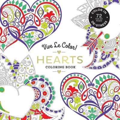Vive Le Color! Hearts (Adult Coloring Book) (Paperback) | ABRAMS