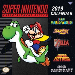 Super Nintendo Entertainment System 2019 Wall Calendar Retro Art from the Original Super NES