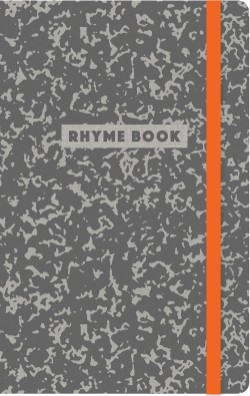 Rhyme Book A lined notebook with quotes, playlists, and rap stats