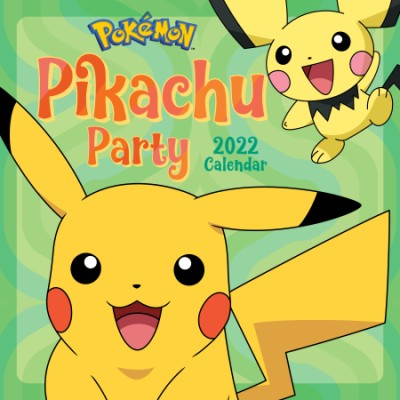 Pokémon Pikachu Party 2022 Wall Calendar
