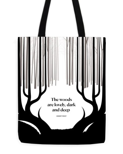 Robert Frost tote by Obvious State - bookish gift ideas 2020