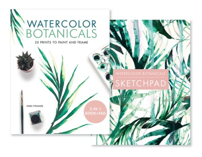 Watercolor Botanicals (2 Books in 1) 20 Prints to Paint and Frame
