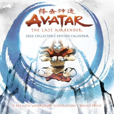 Avatar: The Last Airbender 2022 Collector's Edition Wall Calendar 13 all-new watercolor illustrations + bonus print