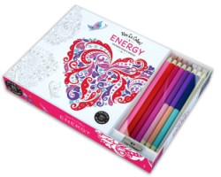 Vive Le Color! Energy (Adult Coloring Book and Pencils) Color Therapy Kit