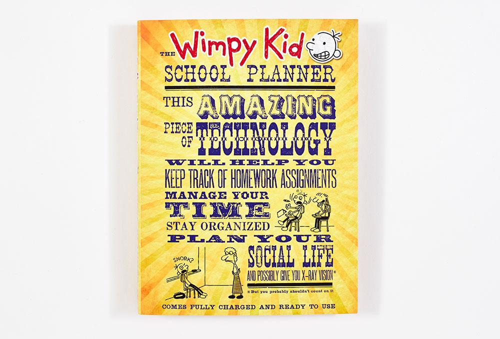 The Wimpy Kid School Planner Spiral Bound Paperback Abrams