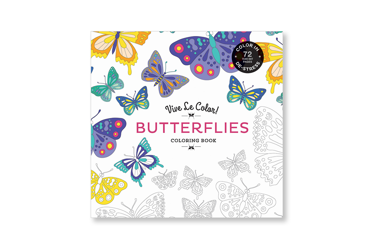 Vive Le Color Butterflies Adult