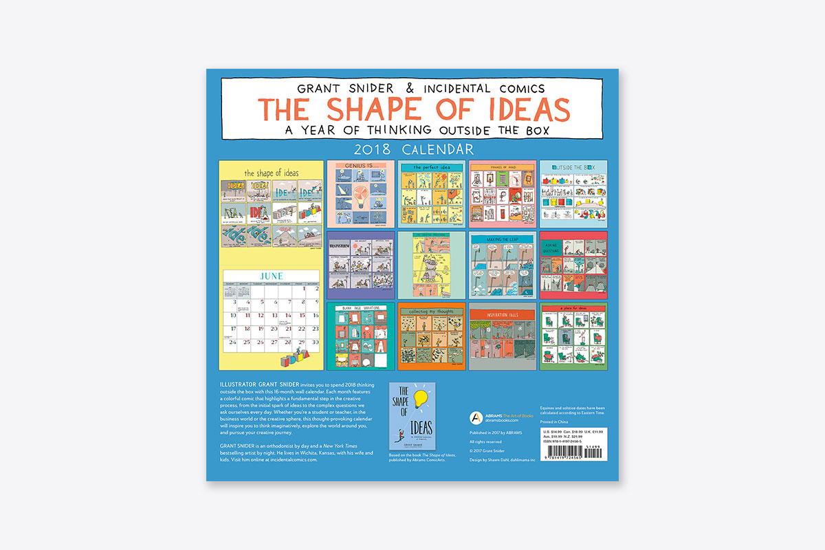 Calendar Ideas For Company : The shape of ideas wall calendar abrams