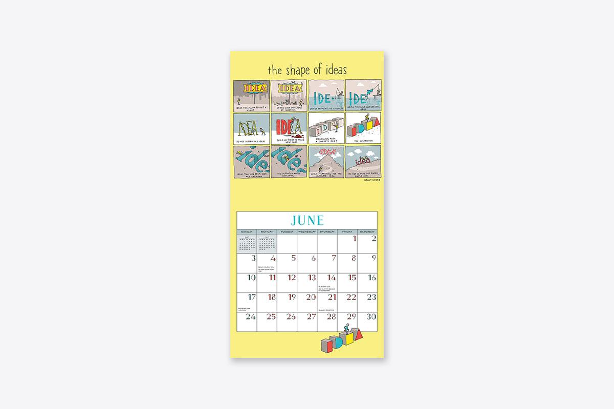 the shape of ideas 2018 wall calendar wall abrams