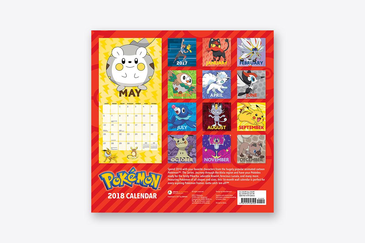 Pokémon 2018 Wall Calendar (Wall)   ABRAMS
