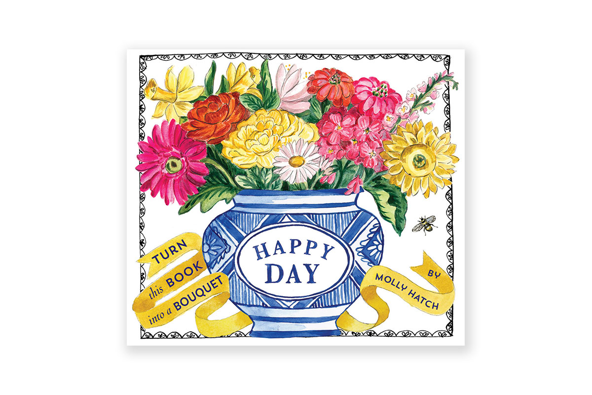 Happy day a bouquet in a book hardcover abrams buy happy day a bouquet in izmirmasajfo